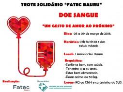 "Trote solidário ""FATEC Bauru"""