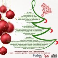 A FATEC Bauru deseja a todos Boas Festas.