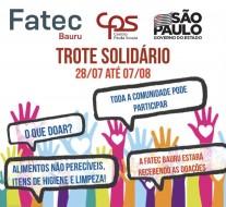 Trote Solidário de 28/07 até 07/08
