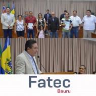 Vereadores de Agudos Prestam Homenagem a Alunos da FATEC Bauru pelo Projeto de Empreendedorismo do SEBRAE