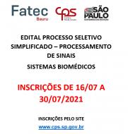 Processo Seletivo Simplificado - 196/08/2021
