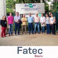 FATEC Bauru em visita técnica à Embrapa Instrumentação em S. Carlos-SP
