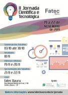 II Jornada Científica e Tecnológica da FATEC Bauru de 19 a 22 de Novembro.