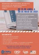 Oportunidade! Release Bolsas PIBITI E PIBIC