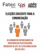 Eleições discentes para a Congregação da FATEC Bauru