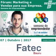 Fórum: Marketing e Vendas para sua Empresa no SEBRAE Bauru