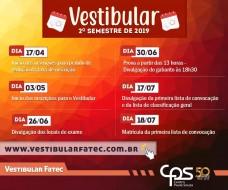 Vestibular FATEC Bauru 2o Semestre 2019
