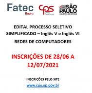 Processo Seletivo Simplificado - 196/07/2021