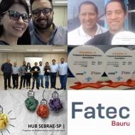 A FATEC Bauru conquistou o 1o. e 3o lugar na final da HUB Sebrae