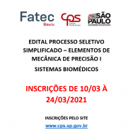 Processo Seletivo Simplificado - 196/05/2021